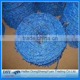 pvc bule coated barbed wire/China Supplier barbed wire price per roll weight of barbed wire per meter l