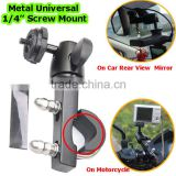 New High Quality Metal Universal Car DVR Digital Camera Sports DV Recorder Bike Motor Scooter Mount Car Rearview Mirror Holder