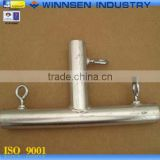 Good Sale Carbon Steel 2 Way Tube Clamp Tee Pipe Fitting for Greenhouse Installation YS22005