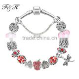 European Bracelet Wholesale With Exquisite Rhinestone Charm Beads By Yiwu Manufacturer