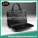 Custom design PU leather guangzhou waterproof briefcase laptop bag,genuine leather laptop backpack