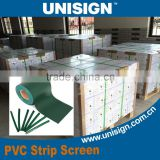 Unisign Professional Supplier High Quality PVC Strip Tarpaulin Privacy Garden Screen Fence