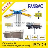 and car Manual single side lock release system hydraulic single post inground lift hoist CE MAIN wash car Pneumatic