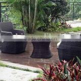 garden sofa set in flat wicker with cushion with coffee table and it is used for hotel room
