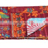 Buy Vintage sari Kantha quilt patchwork quilt bed cover throw kantha embroidery quilt
