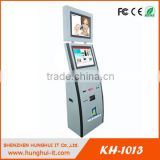 Dual screen cashless payment kiosk with card reader for magnetic card and chip card and NFC card