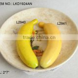 2013Artificial Fake Fruits 2*7 Inch Artificial Polyfoam Weighted Banana House Decoration