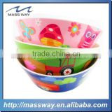 cutlery set hotel gifts cartoon Plastic assorted Kids Melamine bowl                                                                         Quality Choice