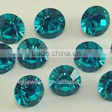 KJL-BD017 crystal chaton point back round loose stone bead