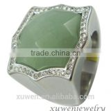 big jade stone 316l stainless steel rings jewelry womens                                                                                                         Supplier's Choice