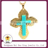 High Quality Stainless Steel Gold Plated Christian Jesus Christ Cross Catholic Crucifix Pendant Medals For Muslim User