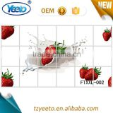 Anti oil sticker removable wall kitchen tile stickers artistic design
