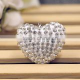 hotsale lovely pave diamond heart pendants, heart shape shamballa diamond beads