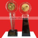 Crystal Metal Badminton Trophy