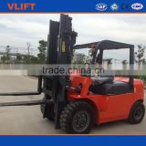 4000kg hydraulic diesel forklift, 3 stage 5m mast, with double front tires, with Japanese Mitsubishi S4S engine