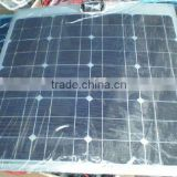 50W/18VSemi flexible monocrystalline silicon solar panel