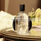 Factory Fashion clear Empty crystal perfume bottle