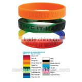 Custom Silicone Bracelet With Multi Color Choices