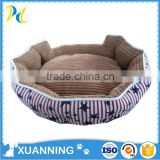 bed for dog round soft durable dog bed high quality corduroy & canvas novelty pet beds