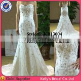 Custom Made Summer white sweetheart dress exquisite beaded bridal gowns 2014