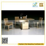 latest furniture design wooden top stainless steel frame with drawers dining table chair set