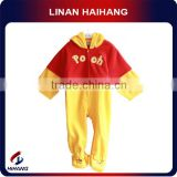 China manufacturer Hot sale fashion weini bear hooded footie long sleeve baby cartoon clothes
