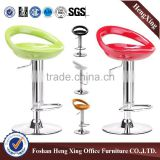 Factory price metal round base foot rest plastic bar stool chair( HX-BR305)