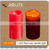1 LED timer function long runtime battery operated glitter candle light candle wax light