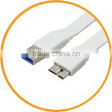 1M USB 3.0 Type A Male to Micro B Male Flat Cable for Galaxy Note III 3 Hard Disk from dailyetech