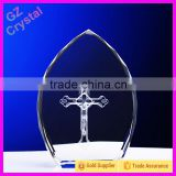2015 Religious 3D Laser Crystal Cross Figurines