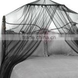Bed Canopy and Mosquito Net In Black hanging king size