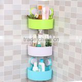 Bathroom Kitchen Storage Organize Shelf Rack Triangle Shower Corner Caddy Basket with Wall Mounted Suction Cup