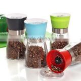 Glass Material and Eco-Friendly Feature salt pepper glass bottle spice set 16S078F