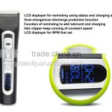 Wholesale barber supplies hair salon tools equipment LCD salon electric hair clippers with CE certification