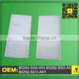 air conditioning filter 80292-S5A-003,80292-S5D-A01,80292-SCV-A01,80292S5A003,80292S5DA01,80292SCVA01, CF10135,PA4195 Kit