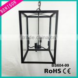 black rectangle lantern pendant lamp with 4 lampholder clear glass island ceiling light industry vintage bar hanging lighting