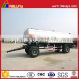 25CBM Stainless Steel Tank Road Milk Transportation Tanker Truck Trailer With Tractor Drawbar