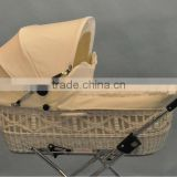 moses basket in organic maize/willow baby basket(factory provide)
