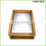 Bamboo a4 paper holder/ paper storage tray/ letter tray Homex-BSCI