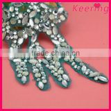 wholesale cheap embroidered beaded patch for garment WPH-1771