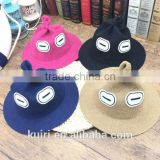 Cute style monster funny kids sunhat child boy and girls outdoor straw hat caps