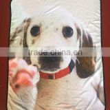 3D Photo Custom Fleece Throw Blanket Printed For Puppy Animal Dogs