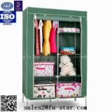 Storage fabric wardrobe Portable storage cabinet design assemble metal wardrobe bedroom furniture