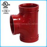 Grooved Pipe fittings Equal Tee with UL listed,FM approval
