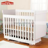 Solid pine baby bed,wooden baby cribs, unique design baby hospital bed for sale