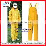 NEW design blue rain coat fashion for women pvc rain coat and pants in dubai uae pvc rain suit in dubai