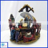 resin water globe with figure and horse