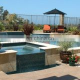 yellow limestone pool paver