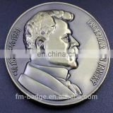 Custom unique fashion metal coin metal challenge coin military coin, portrait 3D russia Souvenir commemorate coin