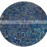 Round Lapis Lazuli Table Top, Semi Precious Stone Table Top